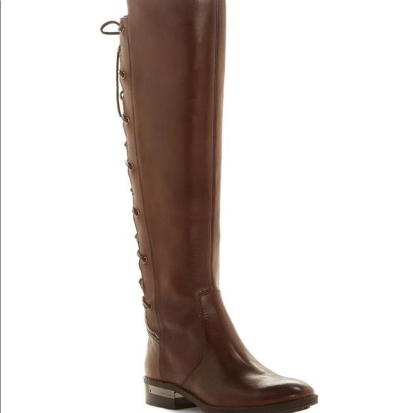 08de2259bd5 New Vince Camuto Palenda Lace up Back Riding Boots